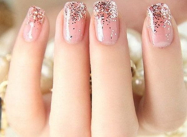 Best Friends Forever 16 Perfectly Glam Glitter Gradient Nail Art