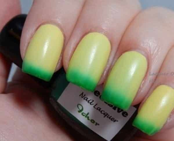 Nail Art Designs Yellow And Green Absolute Cycle