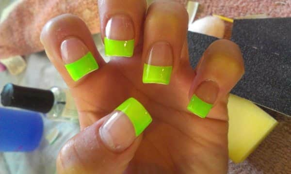 Best Friends Forever — 14 Bright and Easy Neon Green Nail Art Designs