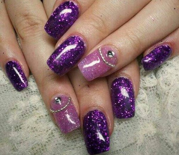 Nail Art Designs Pink And Purple Hession Hairdressing