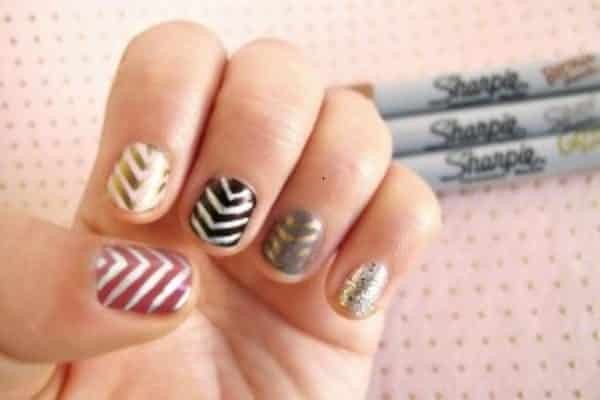 20 Fantastic and Simple Sharpie Nail Art Designs
