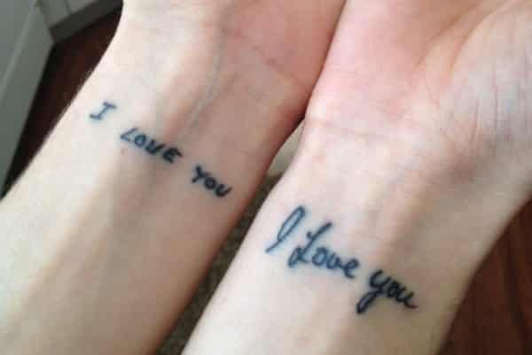 12 Heartwarming Handwriting Tattoo Designs