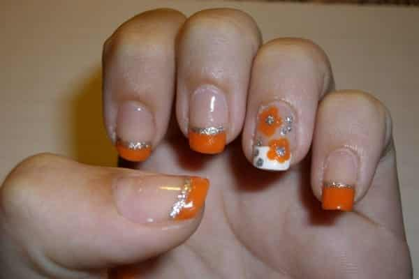 24 Awesome Ways to Wear Orange Nail Art Designs