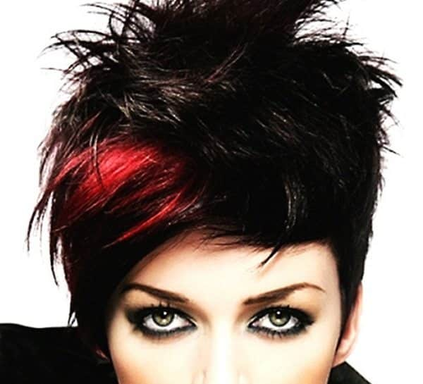 Short Black Hair With Red Highlights Best Short Hair Styles