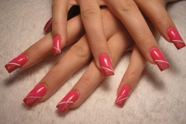 16 simple nail art for long nails ideas simple nail art for long nails prinsesfo Choice Image