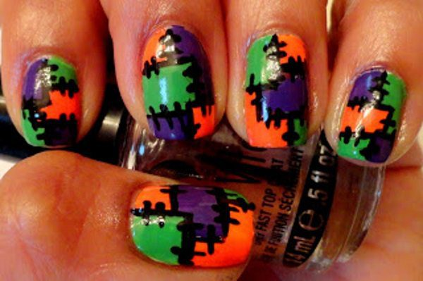 13 Cute and Colorful Halloween Nails