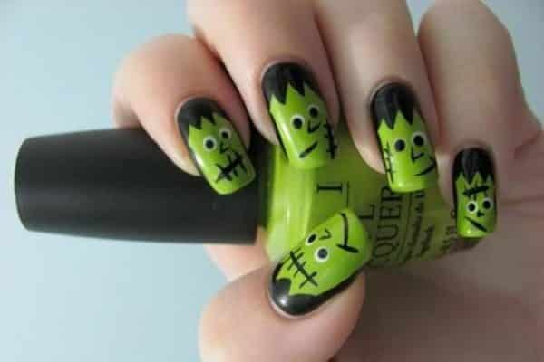 colorful halloween nails