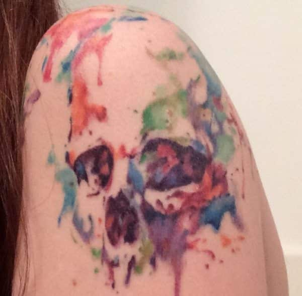 creative skull tattoo