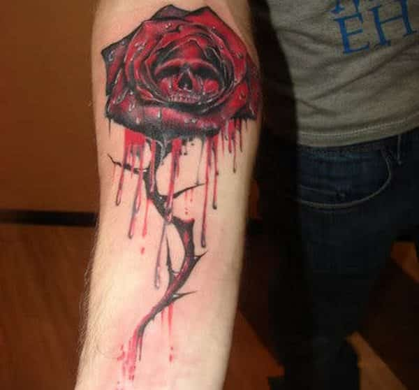 bloody tattoo design