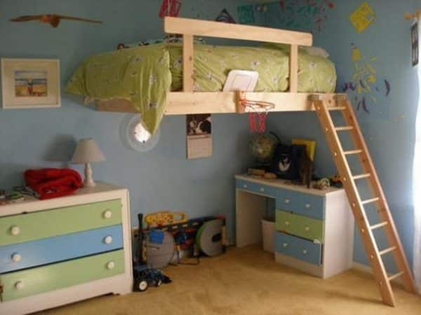 diy built in loft bed ideas 1