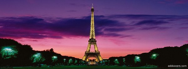 Eiffel Tower Facebook cover