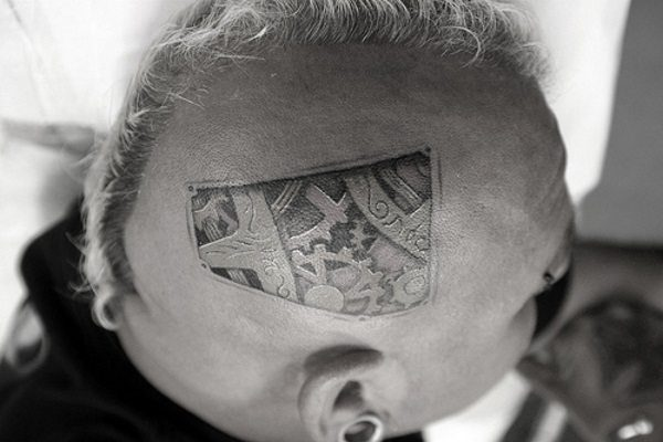 head tattoo designs