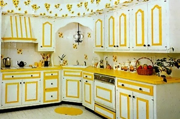 awesome painting kitchen cabinets - Yellow Kitchen Cabinets