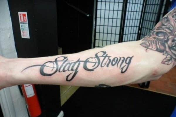 stay strong tattoo design