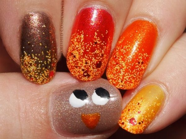 20 Terrific Turkey Nail Art Designs