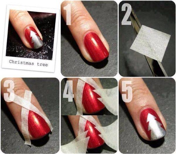 christmas tree nail designs