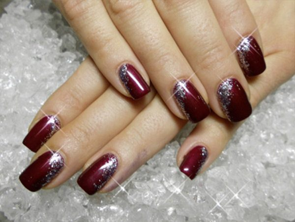 14 low key maroon christmas nail art designs maroon christmas nail art designs prinsesfo Images