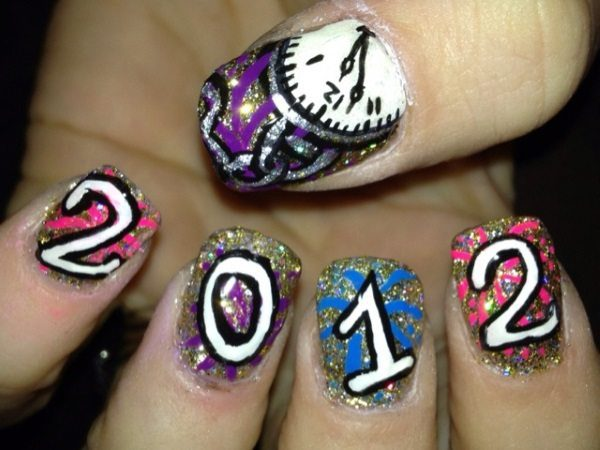 Nail Art Design New Year Hession Hairdressing