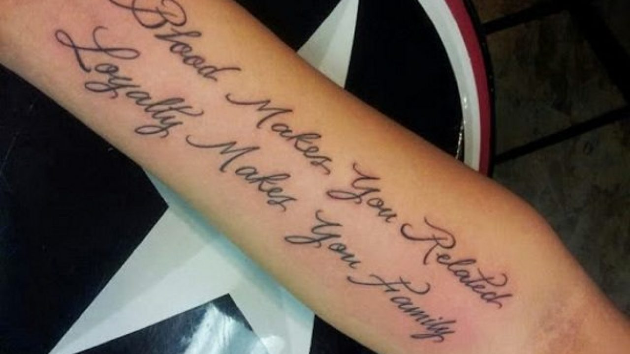 20 Cool and Creative Quote Tattoos on Guys