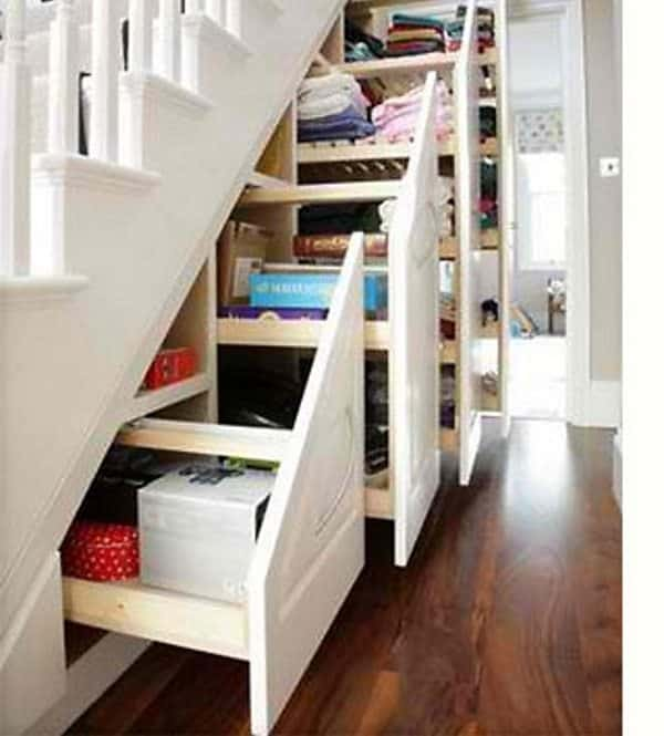 11 Amazing Ways To Use Space Under Stairs