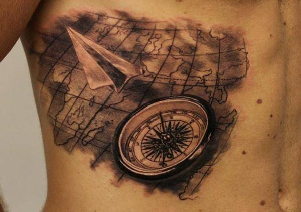 20 terrific world map tattoo design ideas world map tattoo design gumiabroncs Choice Image