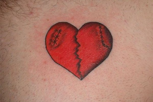 15 Moving Broken Heart Tattoo Design Ideas