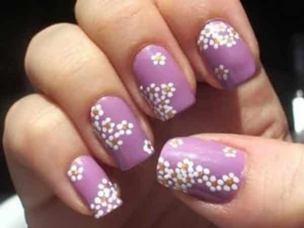White Flower Nail Designs Flowers Healthy