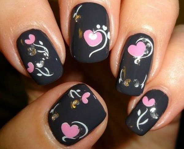 love nail designs - 14 Lovely Love Nail Designs For Valentine's Day