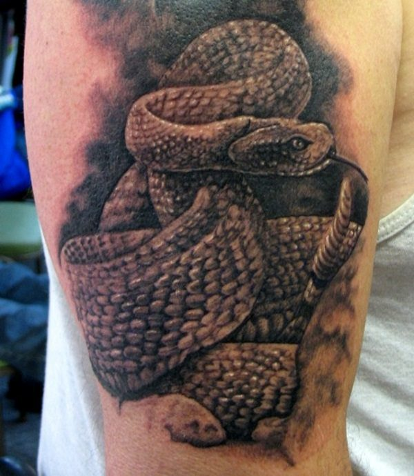 rattlesnake tattoo design