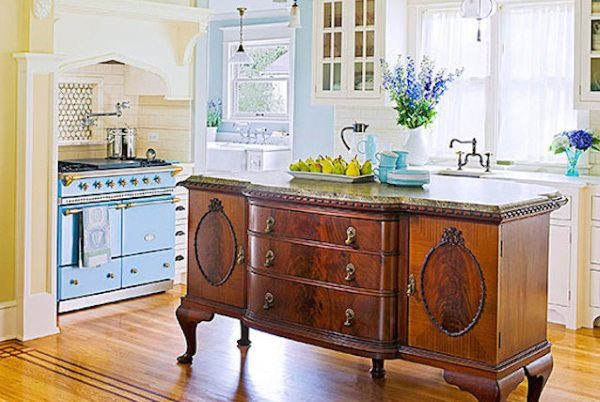 12 Amazing Repurposed DIY Kitchen Island Ideas