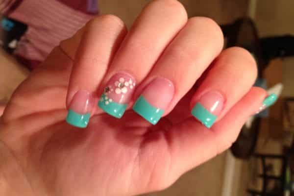 turquoise nail designs - 15 Trendy Turquoise Nail Designs