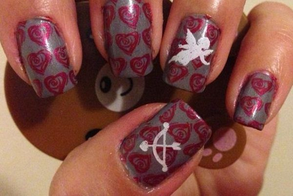 11 cupid nail designs for this valentines day cupid nail designs prinsesfo Images