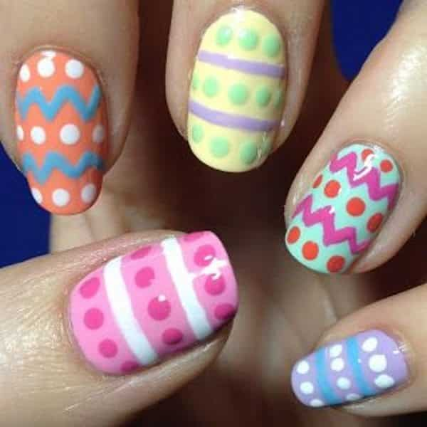 easter egg nail designs - 14 Decorated Easter Egg Nail Designs