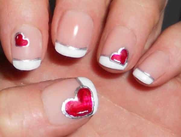 18 lovely heart nail designs heart nail designs prinsesfo Choice Image