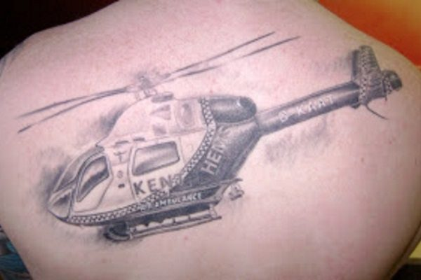 helicopter tattoo design