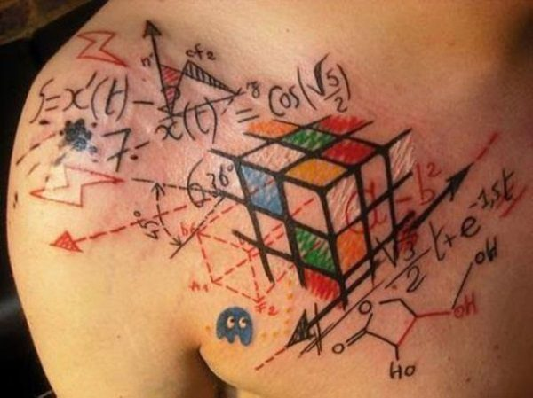 nerdy tattoo design