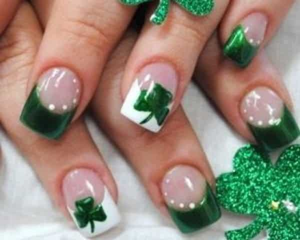 14 st patricks day nail art designs with shamrocks st patricks day nail art prinsesfo Images