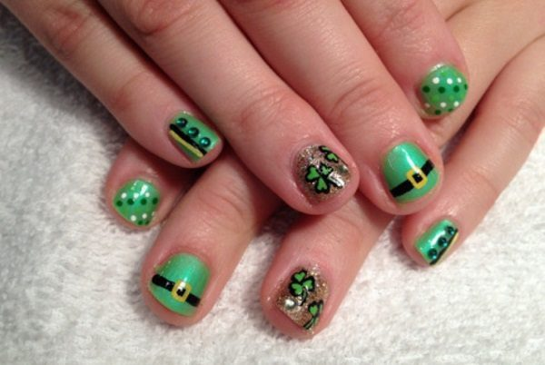 St Patrick S Day Nail Art Stickers Ideas