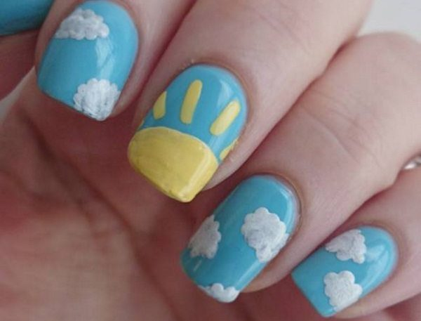 10 Cheerful Sunshine Nail Art Designs