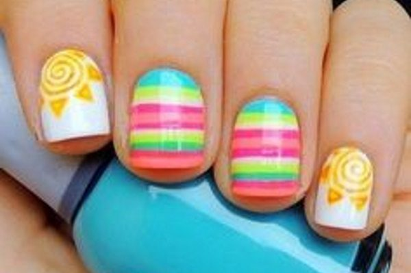 sunshine nail art