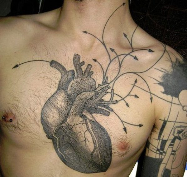 16 Awesome and Creative Anatomical Heart Tattoo Designs