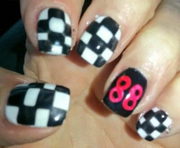 13 fast and furious checkered flag nails checkered flag nails prinsesfo Choice Image