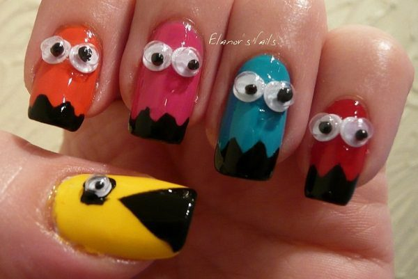 googly eyes nail art