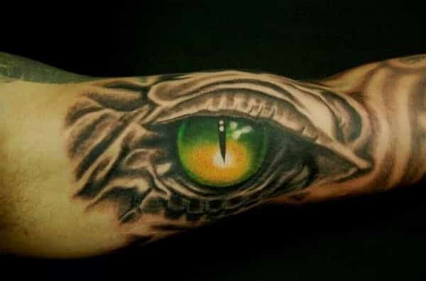12 Stunning and Powerful Dragon Eye Tattoo Designs