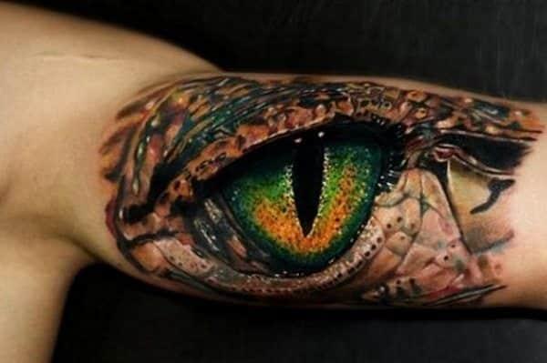 dragon eye tattoo