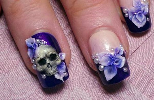 14 pretty purple flower nail art designs purple flower nail art mightylinksfo