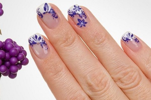 14 Pretty Purple Flower Nail Art Designs