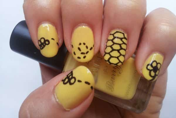 15 buzzin summer bee nail art designs summer bee nail art prinsesfo Choice Image