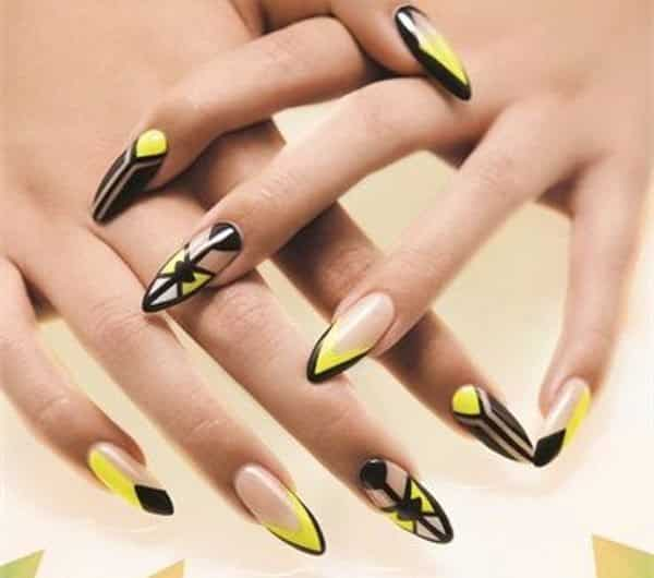 Cute Nail Designs With Yellow : Cheery and trendy yellow nail art designs for summer