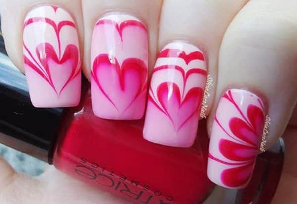 13 unique and creative water marble nail art designs anatomical jewelry prinsesfo Choice Image